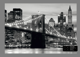 Fotobehang AG Design FTS0199 Brooklyn Bridge B&W 4-d