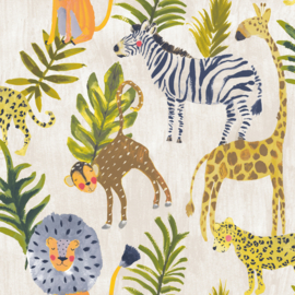 Dutch Little Ones LO2201 Jungle beige groen geel