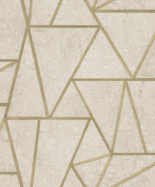 Dutch Exposure EP3702 Grafisch beige goud
