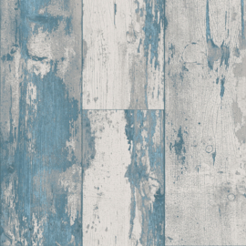 Dutch Royal Dutch 8  7363-5 Hout blauwe turquoise grijs