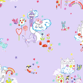 Dutch Make Believe 12219 Unicorn and Castles lila