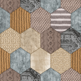 Dutch Royal Dutch 8  7360-0 Patchwork beige bruin grijs