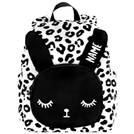 BIG Bunny Backpack White Leopard Personalised