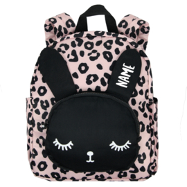 Backpack Bunny Pink Leopard Personalised BIG