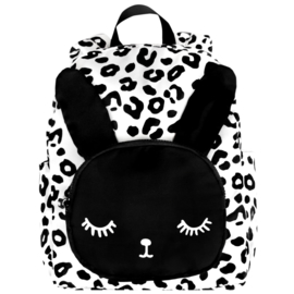 BIG Bunny Backpack White Leopard