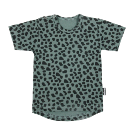 Tee Sea Green Leopard Short SS20