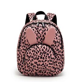 Backpack Bunny Blushpink Leopard