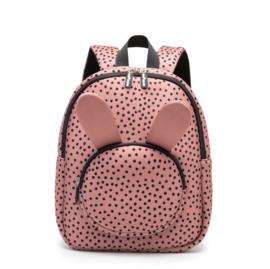 Backpack Bunny WarmPink Dots