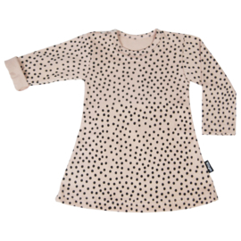 Dress Blush Pink Dots Long