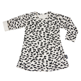 Dress Ecru Leopard Long