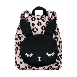 Backpack Bunny Pink Leopard SMALL