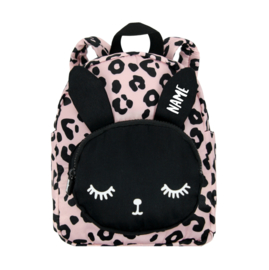 Backpack Bunny Pink Leopard Personalised SMALL