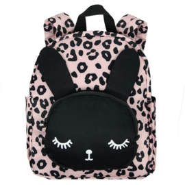 Backpack Bunny Pink Leopard BIG