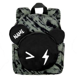 Backpack Bear Green Distress Personalised BIG