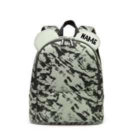 Backpack Bear Green Distress Personalised