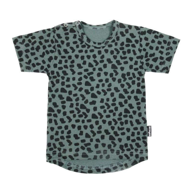 Tee Sea Green Leopard Short SS20