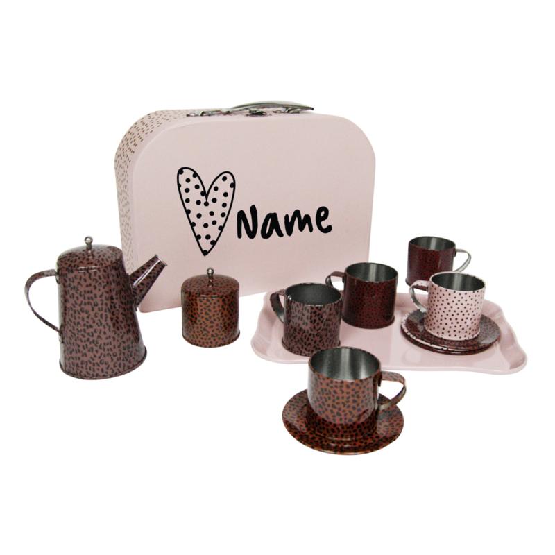 Tea set + personalised suitcase