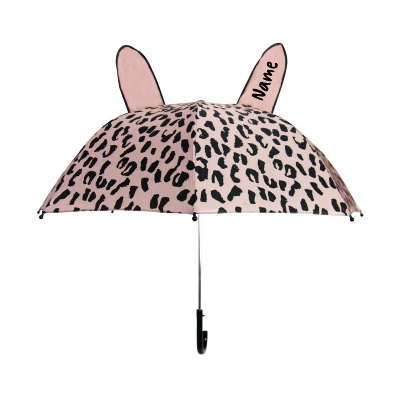 Umbrella Pink Leopard Personalised