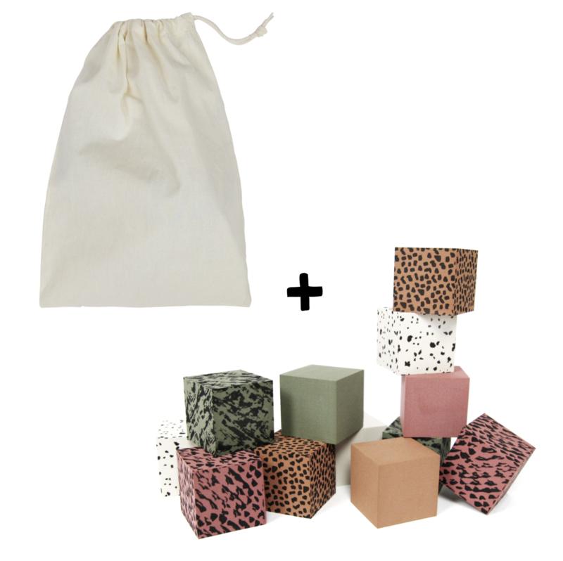 Foam Blocks GREEN + Storage Bag (5 sets)