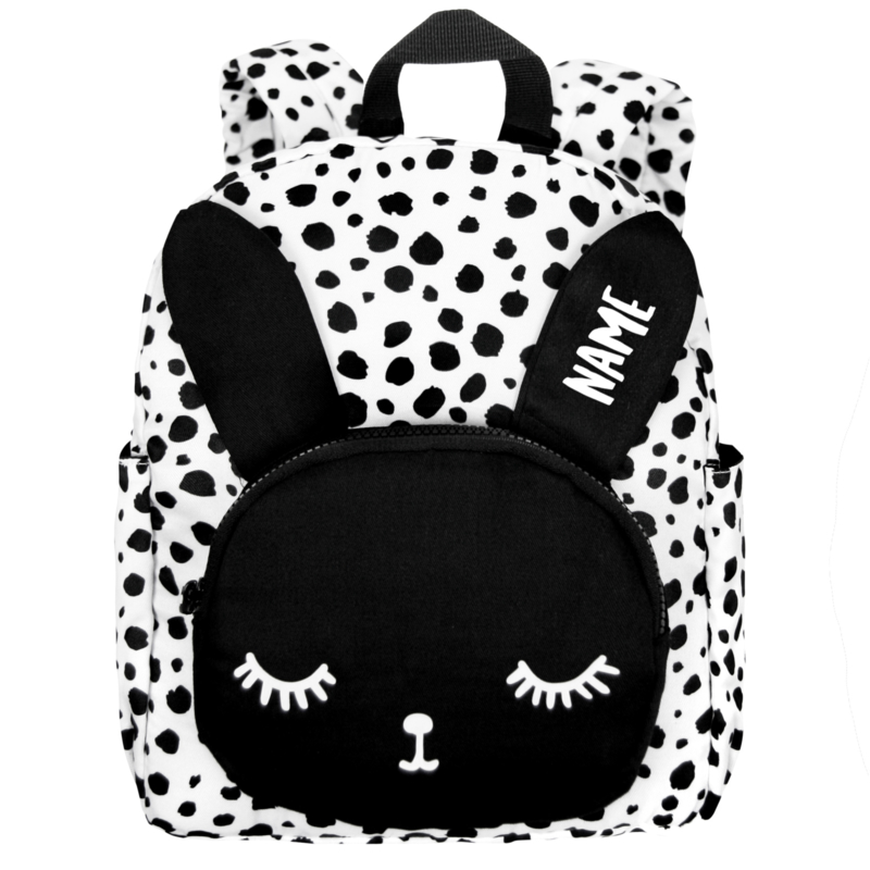 Backpack Bunny White Dots Personalised BIG