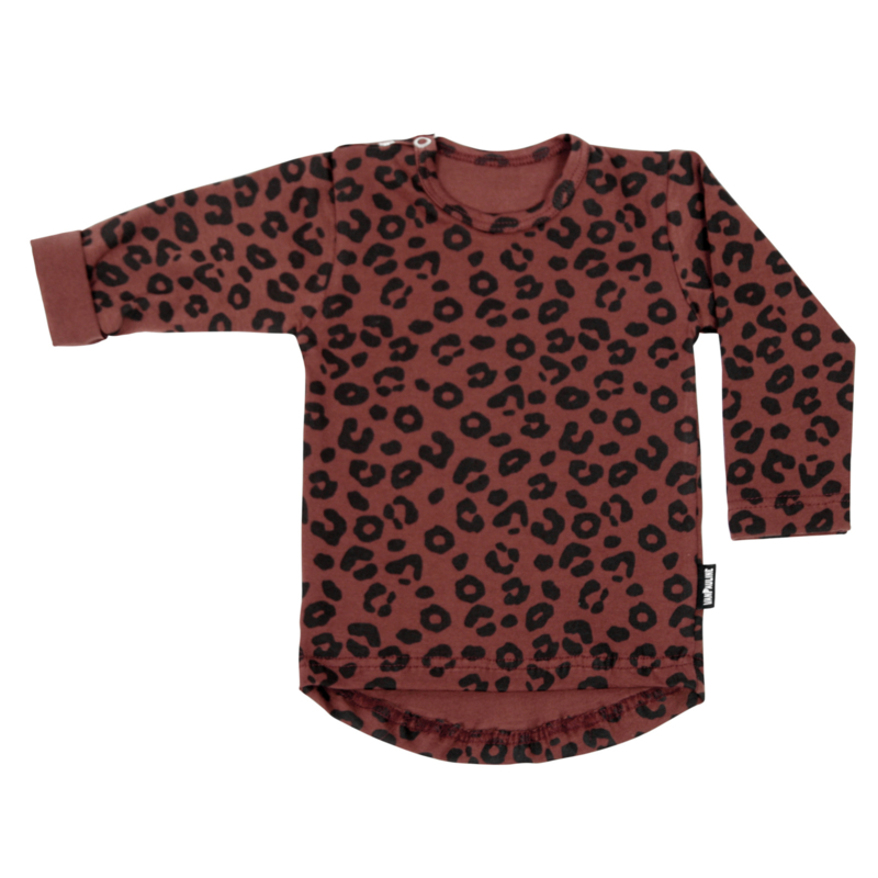 Tee Red Leopard Long