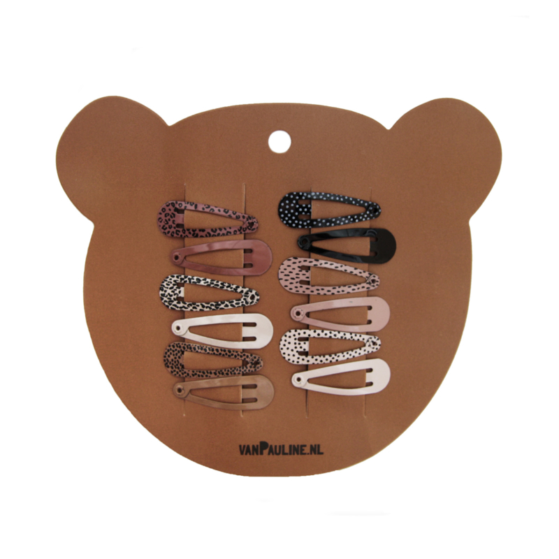 Hairclips Bear  3cm (12 pcs)