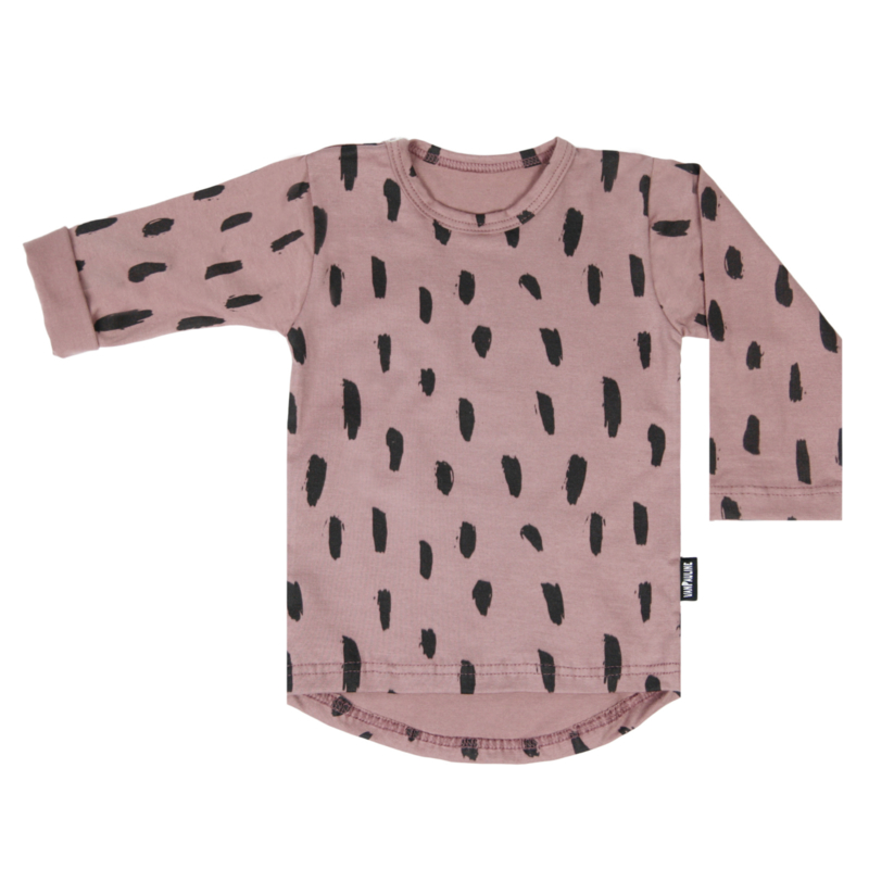 Tee Dark Pink Stripes Long