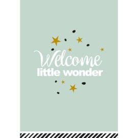 Welcome little wonder, Ansichtkaart