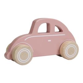 Houten auto - roze
