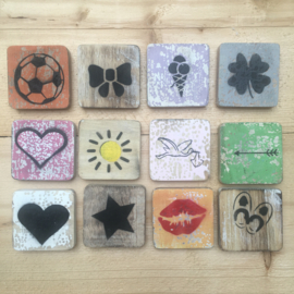 Houten Scrabble Symbolen