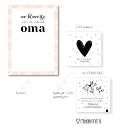 Een bloemetje voor de liefste oma - Ansichtkaart