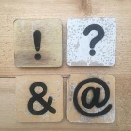 Houten Scrabble Leestekens