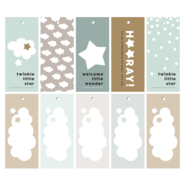 New born cadeaulabels - Blauw