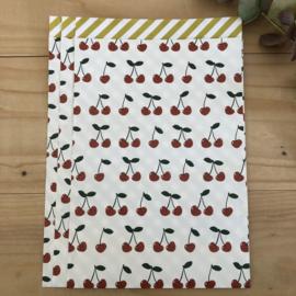 Cadeauzakjes - Cherry - Stripes Yellow - 5 stuks
