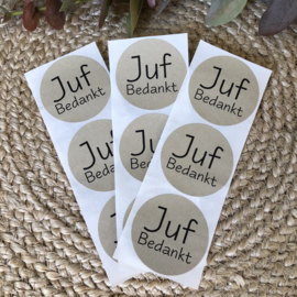 Stickers - Juf bedankt