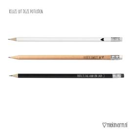 Set van 3 potloden van MIEKinvorm