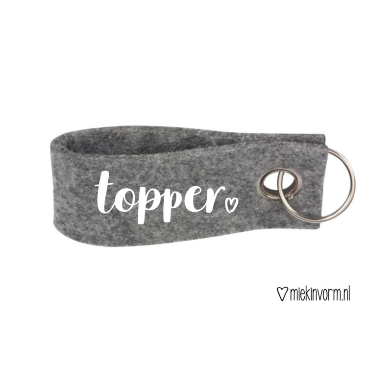 Sleutelhanger - Topper
