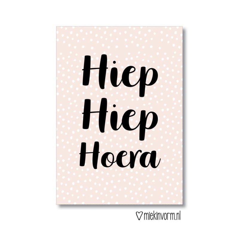 Hiep Hiep Hoera - Ansichtkaart