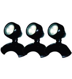 AQUAFORTE VIJVER EN TUIN LED LAMP 3 WATT (SET VAN 3)