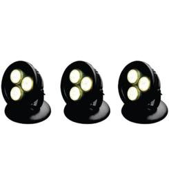 AQUAFORTE VIJVER EN TUIN LED LAMP 12 WATT (SET VAN 3)
