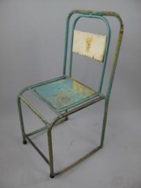 Vintage school stoel groen
