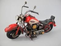Retro blik rode motor