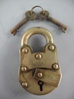 Decratief koper/messing slot 1820