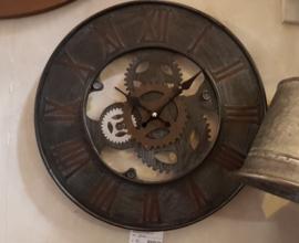 Stoere ijzeren wandklok 40 cm