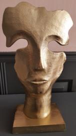 Masker op sokkel goud
