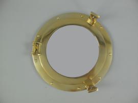 Patrijspoort met spiegel wandspiegel Messing