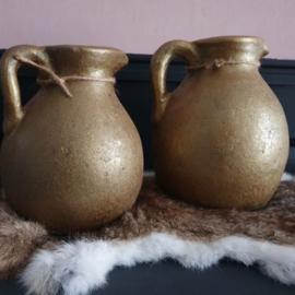 Pot aardewerk goud