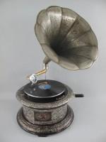 Grammofoon antiek zilver