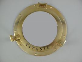 Patrijspoort titanic  wandspiegel messing