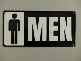 Wandbord Toilet Men